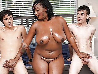 Ebony Mom Having Fun With Stepson and His Friend big ass porn for women american