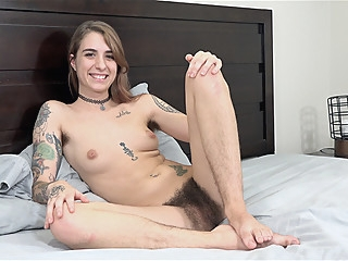 Pearl Sage gives a naked interview in bed today - Compilation - WeAreHairy amateur brunette compilation