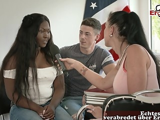 german black teen public street casting for first time porn amateur big tits ebony
